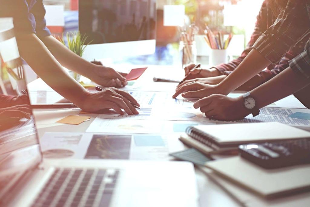 Digital marketing strategy concept