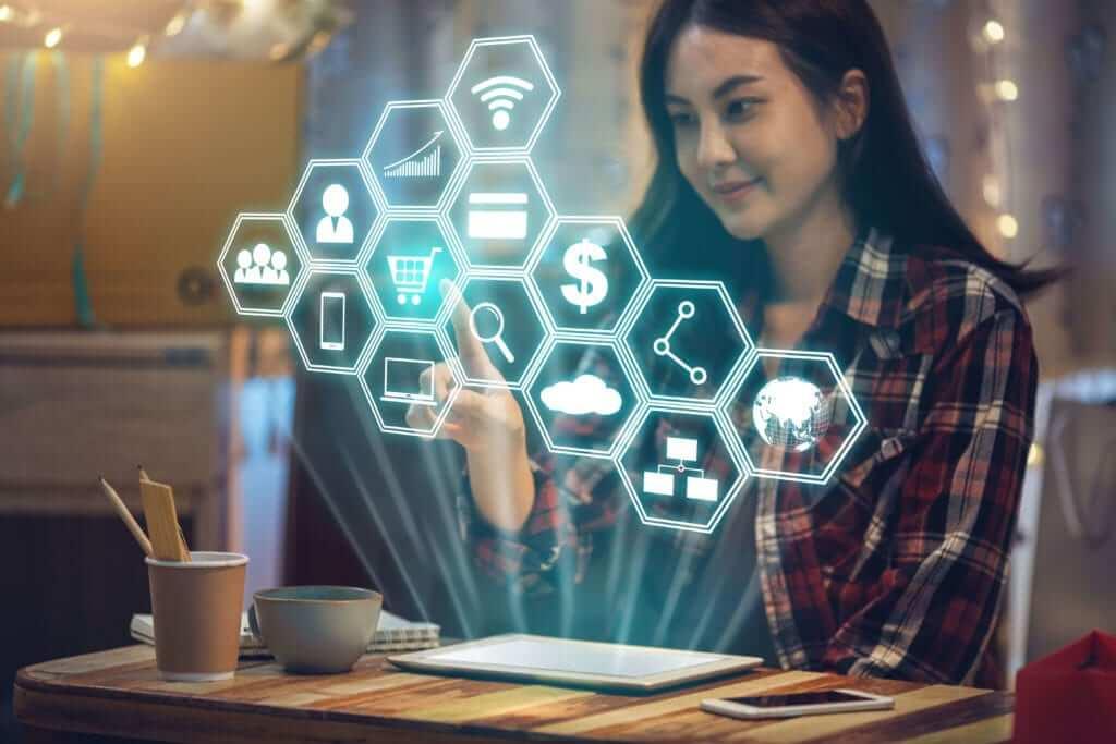 Digital marketing trends concept